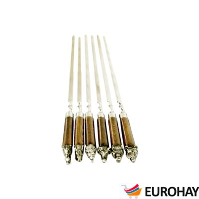 Brochettes sculpté 6 pcs